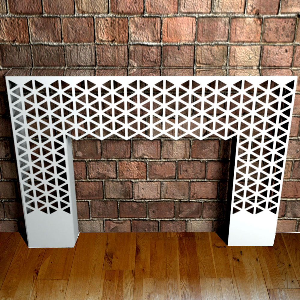 floor to wall mounted console table with mirror top from Lace Furniture