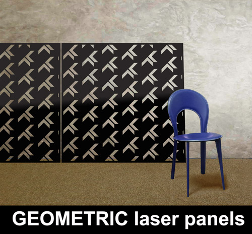 GEOMETRIC laser cut metal panels made in the UK
