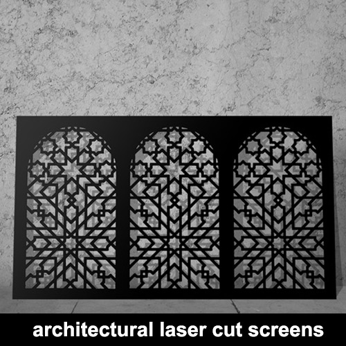 architectural laser cut screens and decorative panels