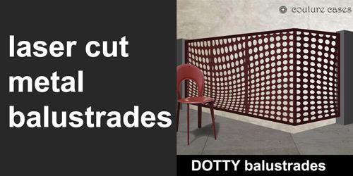 decorative laser cut metal balustrades by couture cases
