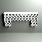 Cutaway Decorative Console table in triangle pattern by Lace Furniture