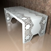 Manchester Lace pattern metal Dining table
