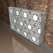 Nottingham Lace Metal Radiator Covers by Lace Furniture