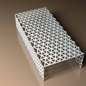 Geometric contemporary coffee tables from Lace Furniture