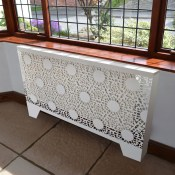 Nottingham Lace Pattern Floor mounted Radiator cabinets