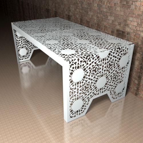 Nottingham Lace Dining table