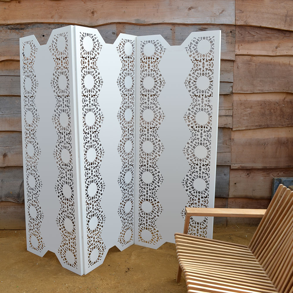 decorative modern laser cut metal room dividers