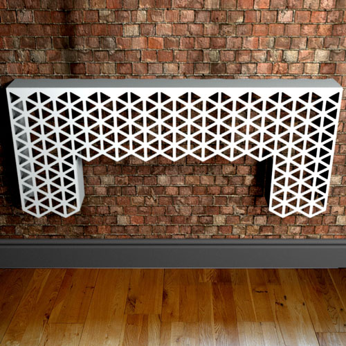 Cutaway White Modern Console Table form Lace Furniture