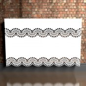 Chantilly Lace Pattern Wall mounted Radiator cover