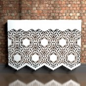 Nottingham  Lace Heavy Braided Pattern Wall mounted Radiator cover by Couture Cases
