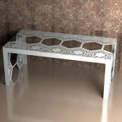 Windsor Lace Metal Dining Table