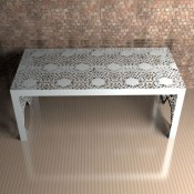 Nottingham Lace Metal Dining Table