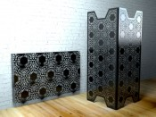 Nottingham Black  Lace Room dividers by Lace Furniture