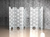 Nottingham Lace three panel room dividers