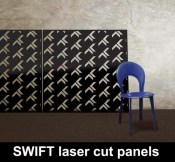 Swift design laser cut metal panels