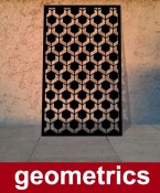Geometric Hexagons screen in black